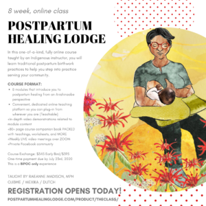 Postpartum Healing Lodge: The Class